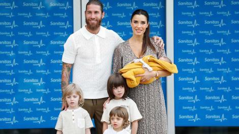 Sergio Ramos şi Pilar Rubio, părinţi pentru a patra oară. Ei au tot un băieţel, Maximo Adriano