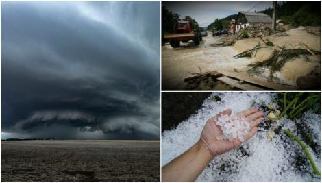 Furtuni cu grindină, după valul de caniculă! ANM, anunț de ultim moment: Vremea se schimbă radical