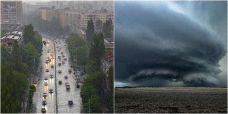 Avertizare de maximă importanță de la meteorologi! Cod Roșu de ploi torențiale, într-un județ. Aproape toată țara va fi măturată de furtuni, în următoarele ore