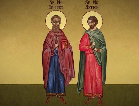 Cei mai vechi martiri ai României, Sfinții Epictet și Astion. Li s-a tăiat capul în Deltă
