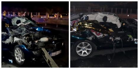 Tragedie în Argeș. O fetiță de doi ani și mama ei au murit într-un accident rutier cumplit, provocat de un șofer care a vrut să întoarcă pe autostradă