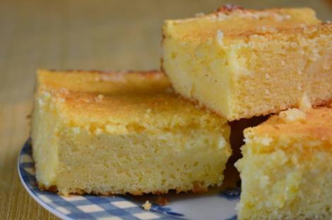 Prăjitură cu griș și aromă intensă de lămâie. Prăjitura Revani