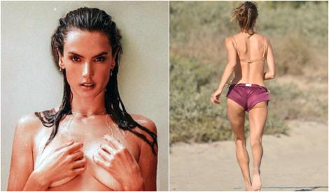 Alessandra Ambrosio a apărut într-un costum incendiar pe plajă! La 39 de ani a sucit mințile bărbaților din întreaga lume