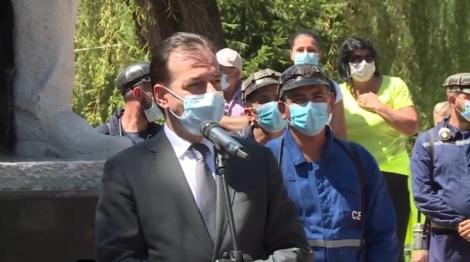 Ludovic Orban, huiduit, în Valea Jiului! Premierul a uitat denumirea minei Lonea. Ce i-au strigat oamenii