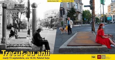 """Expoziţia de fotografie în aer liber """"Trecut-au anii 1990 vs 2020"""", deschisă la Palatul Suţu"""