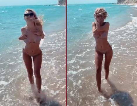 Andreea Bălan, filmare fierbinte pentru fani! Mișcările divei au făcut senzație pe Instagram