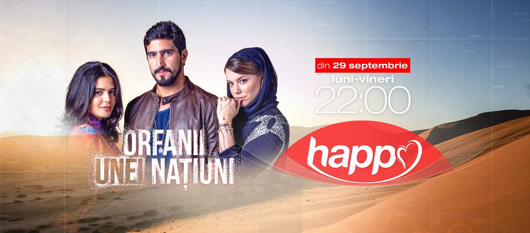 Happy Channel difuzează producţia braziliană Orfanii unei naţiuni, din 29 septembrie