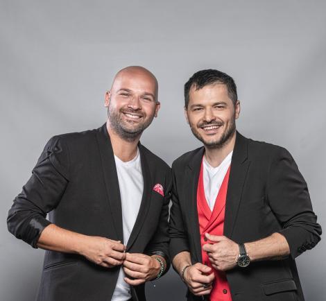 """Liviu şi Andrei s-au """"îngrăşat"""" 30 de kilograme la filmările Te cunosc de undeva! Show-ul va fi difuzat în fiecare sâmbătă, de la 20:00, la Antena 1"""