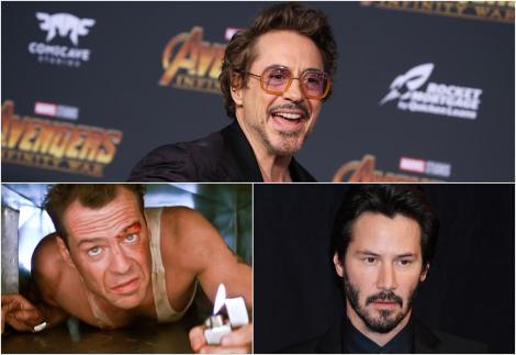 Colaj Ribert Downey Jr, Keanu Reeves si Bruce Willis
