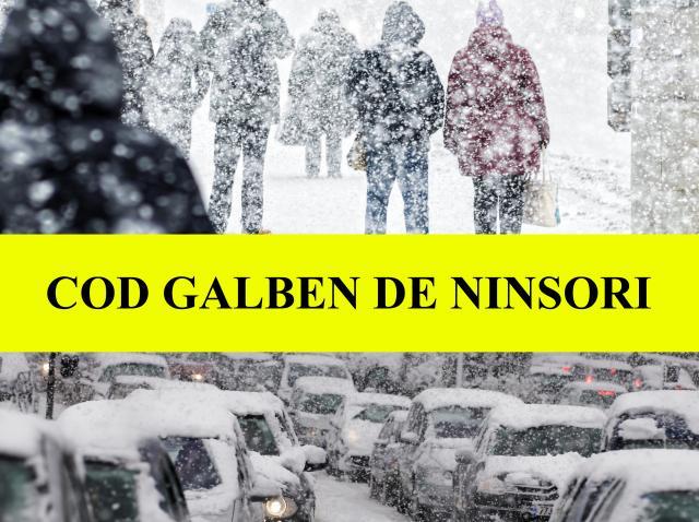 Alertă ANM. Cod galben de ninsori în 22 de județe. Meteorologii au emis o prognoză specială pentru București