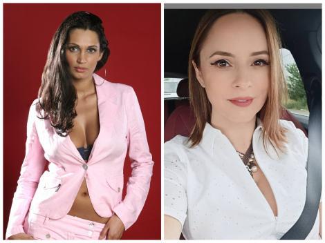 Colaj cu Nicoleta Luciu, purtând un sacou roz și Andreea Marin cu o cămașă albă