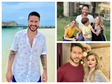 Jorge, alături de cei tri copii ai săi: Karina, David și Ilinca
