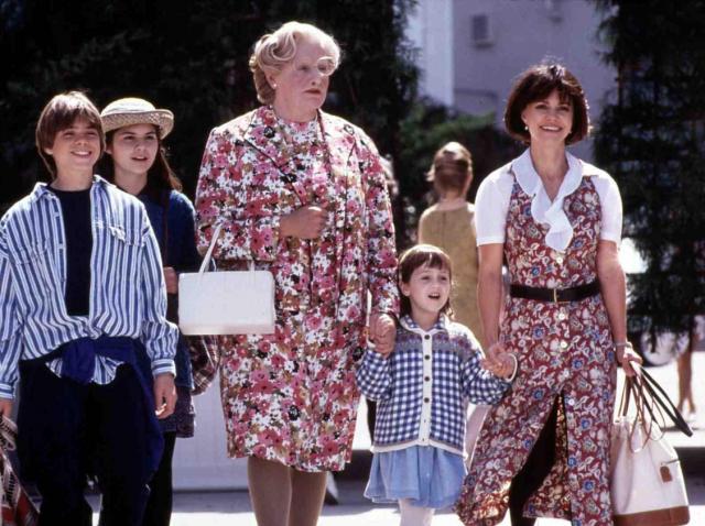 """Actrița Mara Wilson, secvență din filmul """"Mrs Doubtfire"""""""