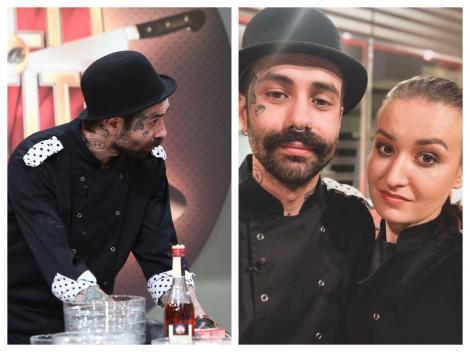 Kani de la Chefi la cuțite și Roxna Blenche, purtând uniforma Bulinelor, din sezonul 8 Chefi la cuțite