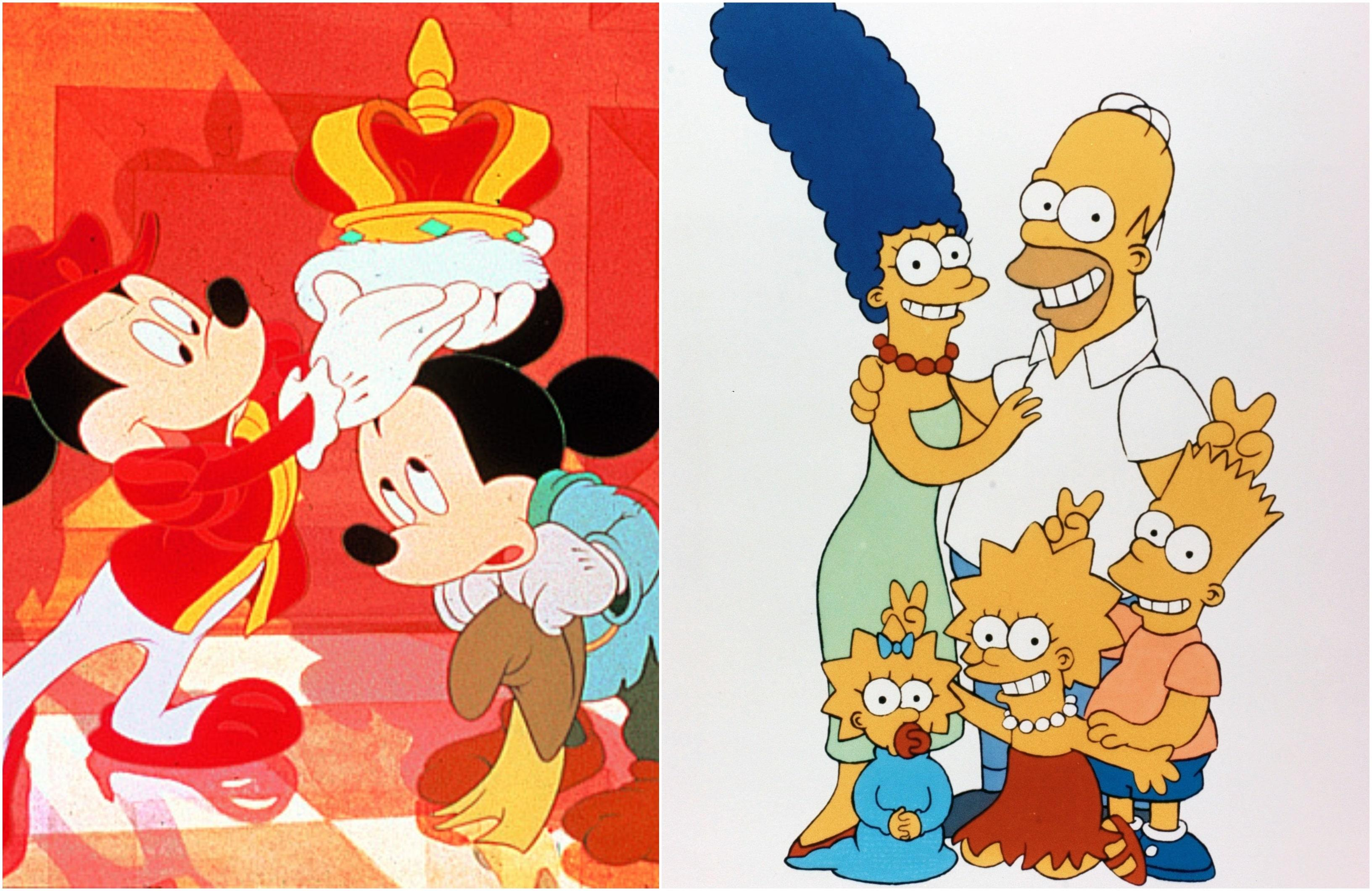 Colaj Mickey Mouse si the simpsons
