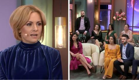 """Colaj foto cu Simona Gherghe (stânga) și concurenți din casa """"Mireasa"""" sezonul 2 (dreapta)"""