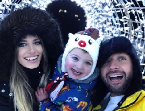 Antonia și Andrei Ștefănescu alături de fiul lor, Ayan