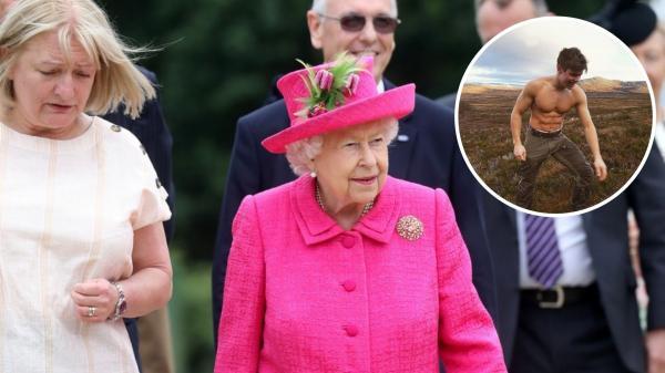 regina elisabeta si nepotul sau, arhur chatto