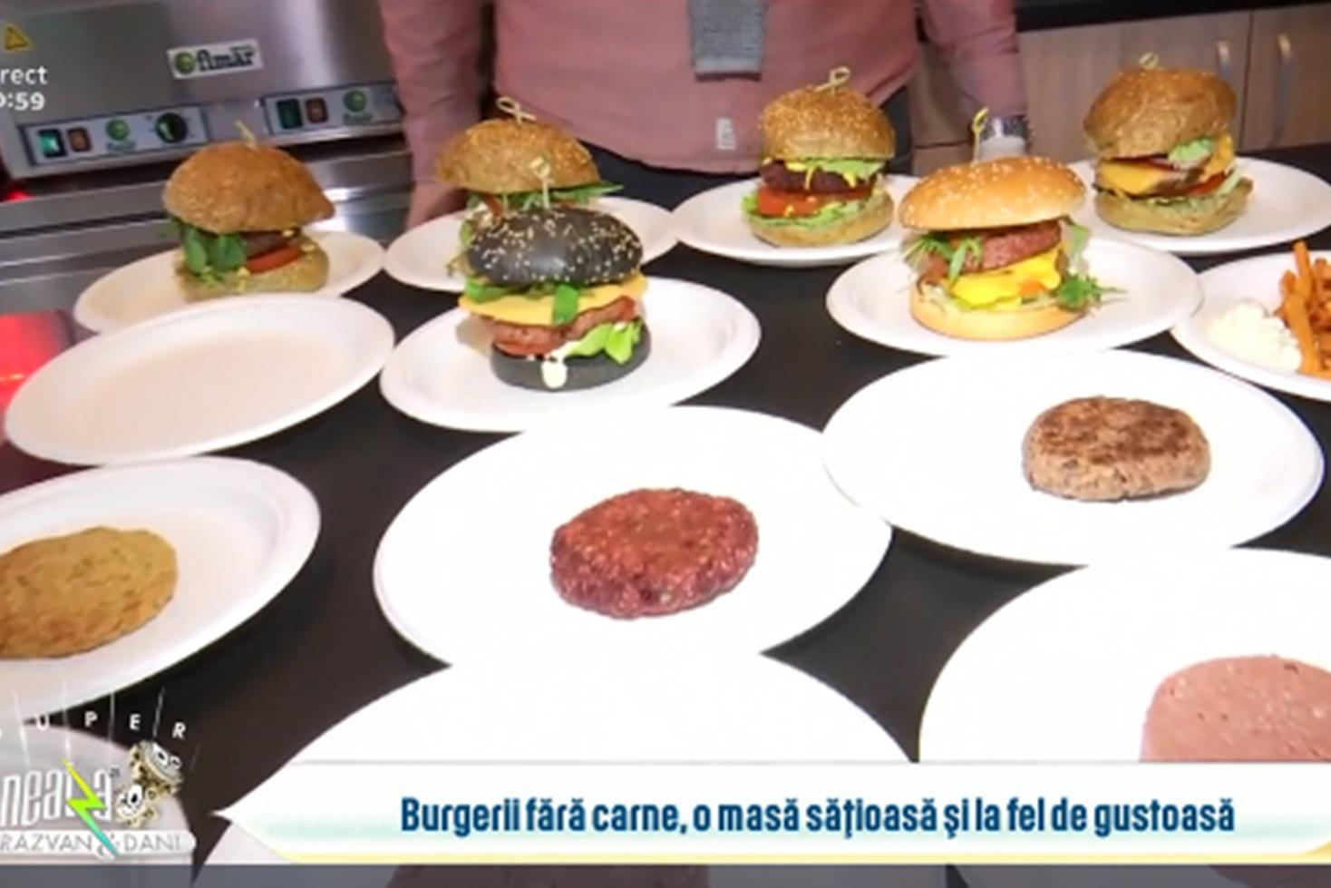 Burgerii fără carne o alternativă mai sănătoasă și la fel de gustoasă