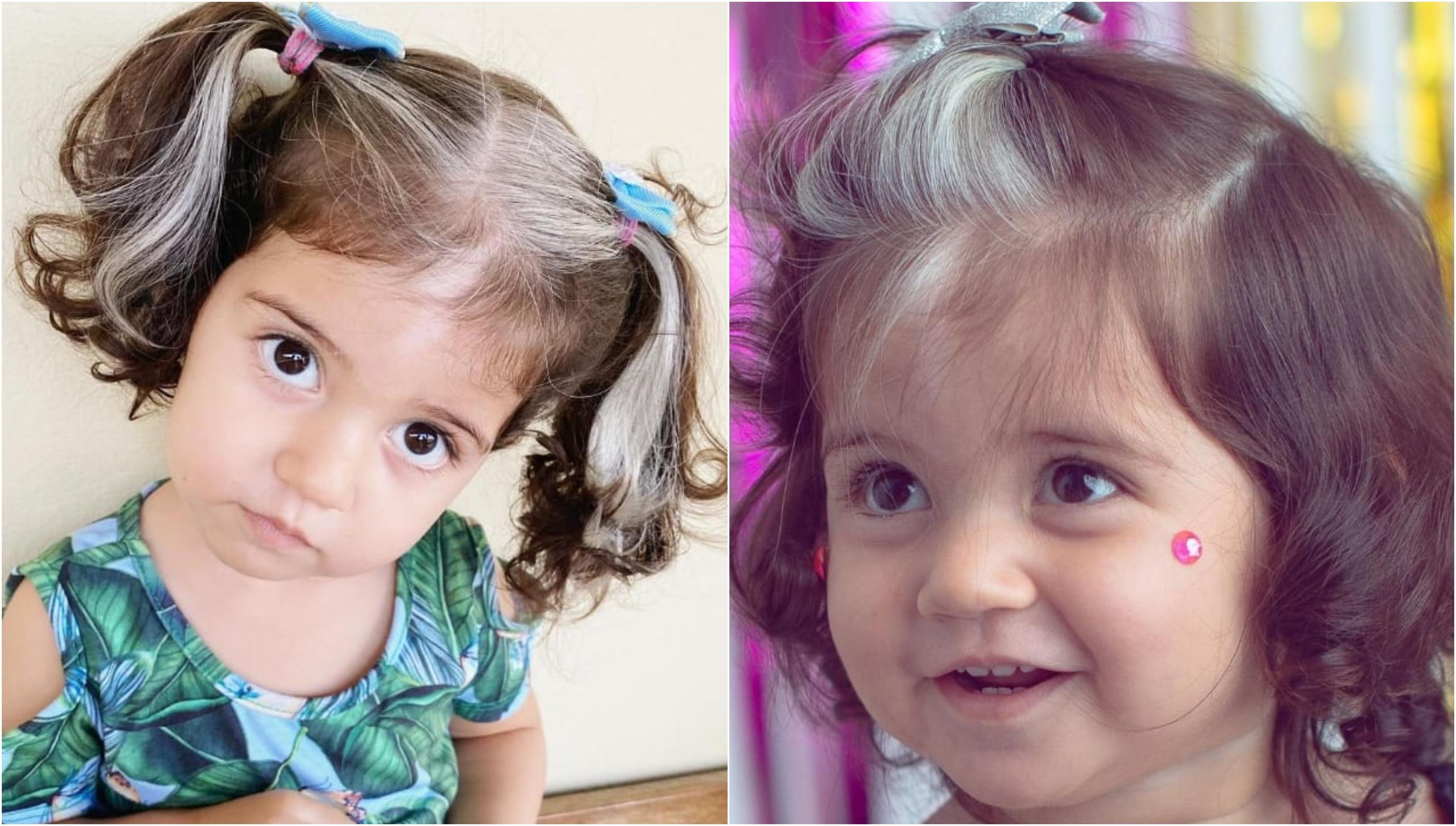 Fetița de 2 ani cu păr cărunt. De ce are micuța Mayah suvițe albe la o vârstă atât de fragedă