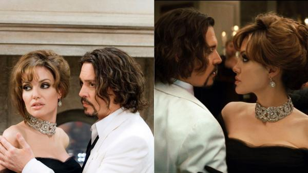 Angelina Jolie si Johnny Depp in filmul Tourist 2010, unde au fost nevoiti sa se sarute