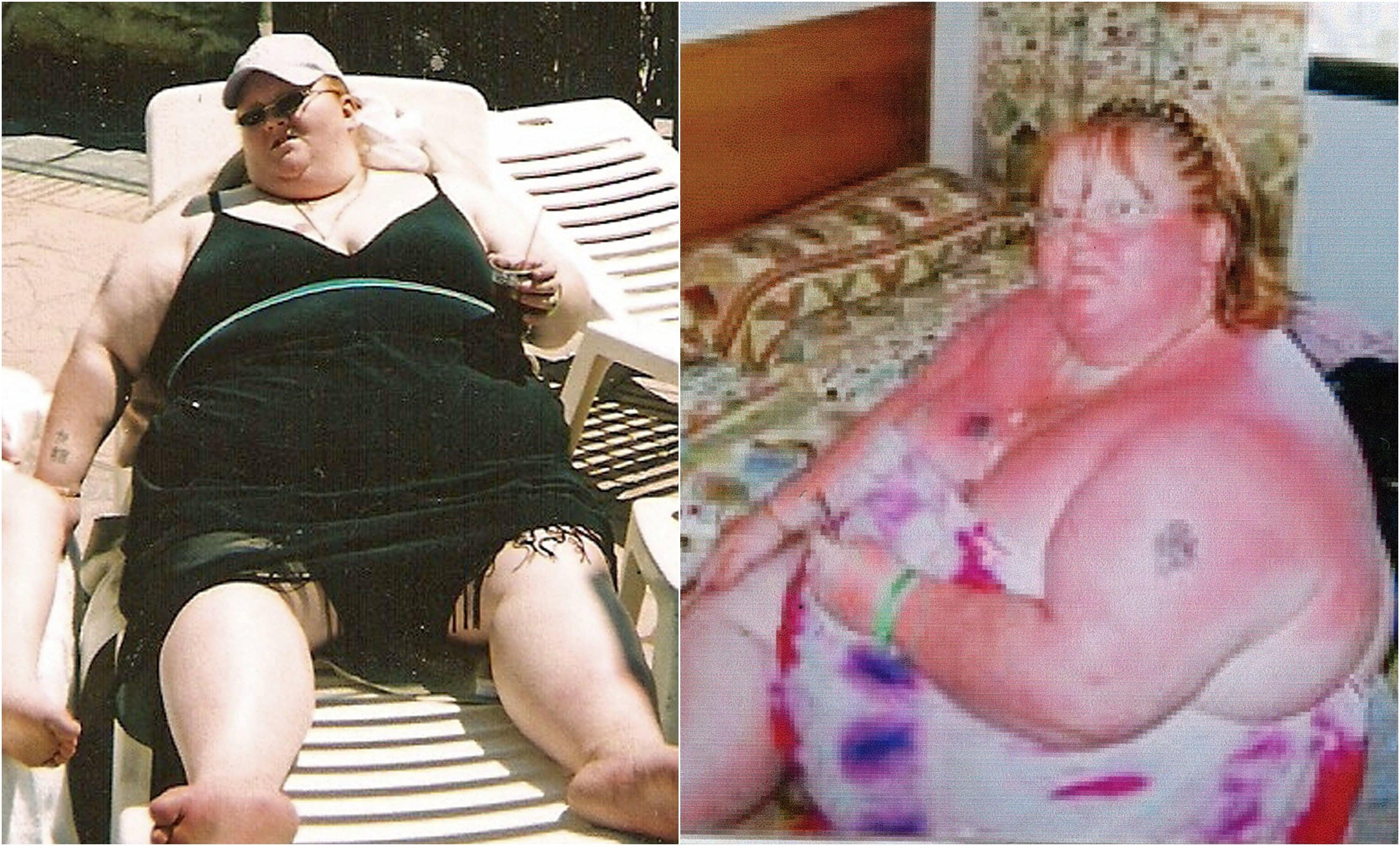 Colaj femeie slabit 190 kg
