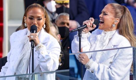 Jennifer Lopez cântă la inaugurarea președintelui Joe Biden