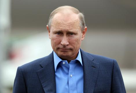 Vladimir Putin, eveniment oficial, camasa albastra