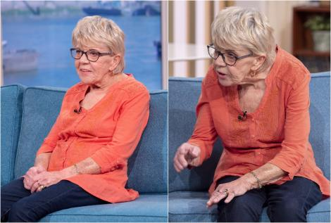 Colaj Iris, bunica de 81 de ani, emisiune, bluza portocalie