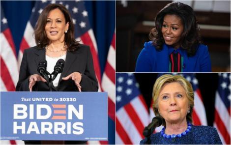 Colaj Kalama Harris, Michelle Obama si Hillary Clinton