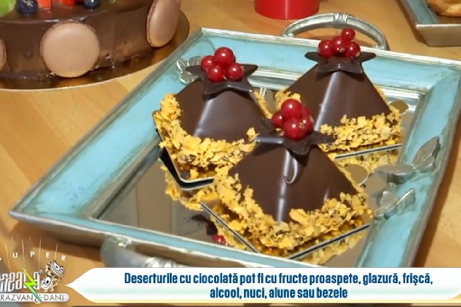 Prăjiturile cu ciocolată sunt alegerea perfectă pentru porția de desert de la orice ocazie