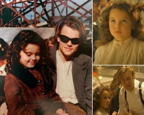 colaj foto cu capturi foto din film (dreapta) și o imagine din arhiva personală, postată de Alexandrea Sarno pe Instagram (stânga)