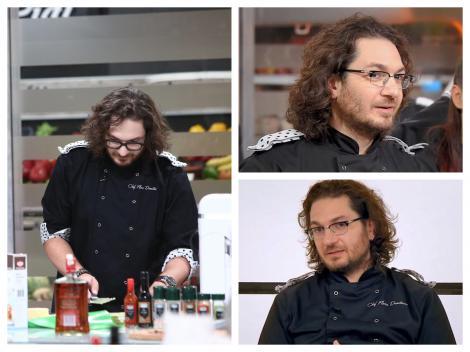 Chef Florin Dumitrescu în platourile emisiunii Chefi la cuțite