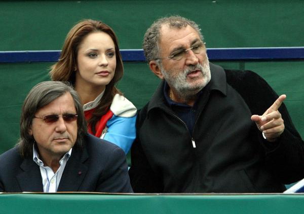 Andreea Marin, împreună cu tenismenii Ilie Năstase și Ion Țiriac