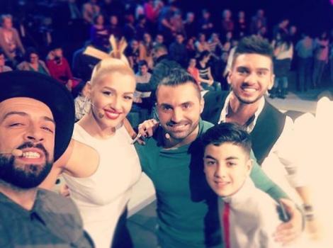 Omar Arnaout alături de jurații primului sezon Next Star