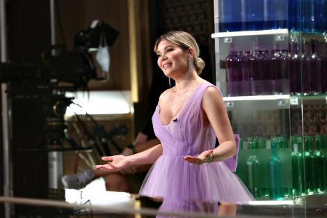 Gina Pistol, într-o rochie lungă, spectaculoasă, la Chefi la cuțite