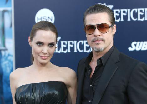Angelina Jolie și Brad Pitt, pe covorul rosu