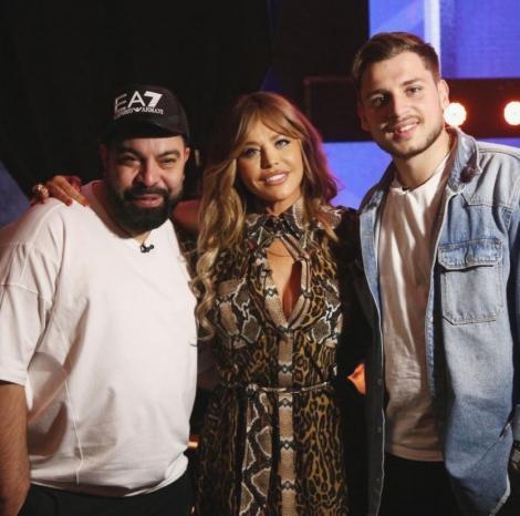 Florin Salam, Adrian Petrache și Loredana Groza in culisele show-ului X Factor