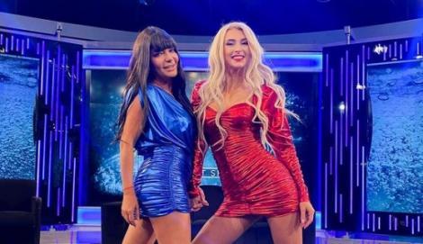 Andreea Balan si Andreea Antonescu la Xtra Night Show, inainte de Craciun