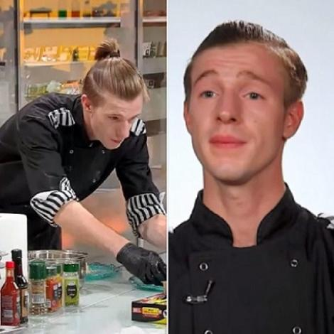 """Colaj foto cu Adrian Luca de la """"Chefi la cuțite"""