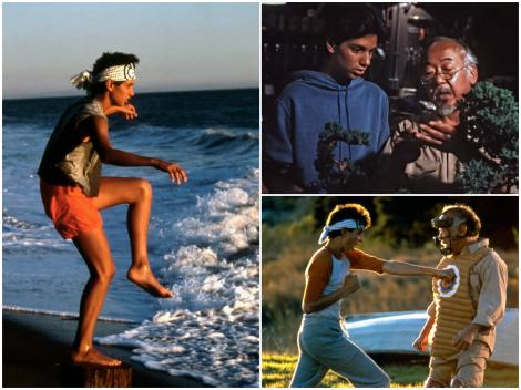 Ralph Macchio și Pat Morita, în 1984 jucând în Karate Kid