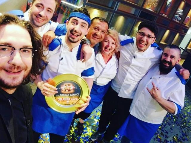 Bogdan Vandici, alături de echipa albastră de la Chefi la cuțite