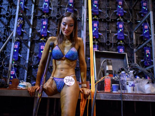 Gui Yuna la un concurs de culturism din China