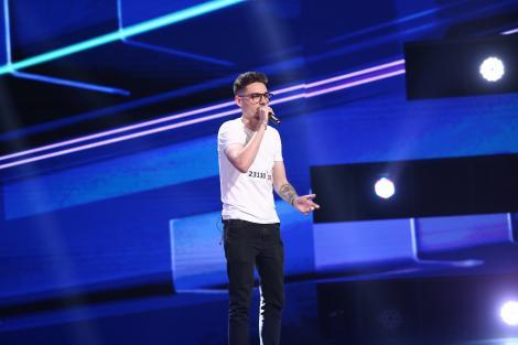 """X Factor 2021, 15 octombrie. Costin Alexandru Popovici a venit cu o piesă proprie. """"Îți trebuie un pic mai mult curaj"""""""