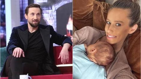 Cine sunt nașii de botez ai lui Luca Tiago. Dani Oțil și Gabriela Prisăcariu și-au creștinat fiul