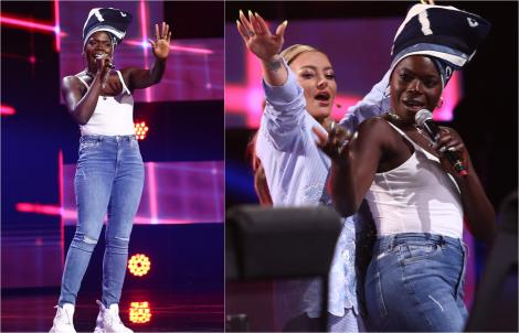 """X Factor 2021, 8 octombrie. Oma Jali a cântat Shy Guy, s-a urcat pe masa juriului și a făcut show: """"Mi-a adus aminte de Naomi"""""""