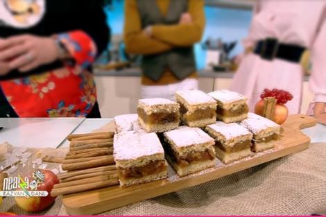 Rețeta zilei preparată de Vlăduț la Super Neatza, 8 octombrie 2021 - Prăjitură de toamnă cu mere și nuci