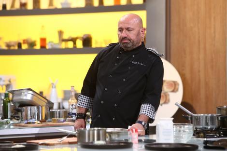 """Cătălin Scărlătescu, în bucătăria emisiunii """"Chefi la cuțite"""" de la Antena 1"""