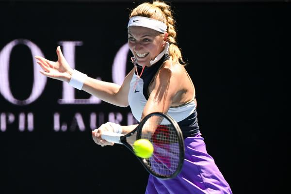Petra Kvitova la Austalian Open 2021 împotriva Soranei Cîrstea