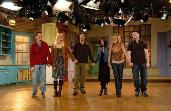 actorii din friends pe platourile de filmare